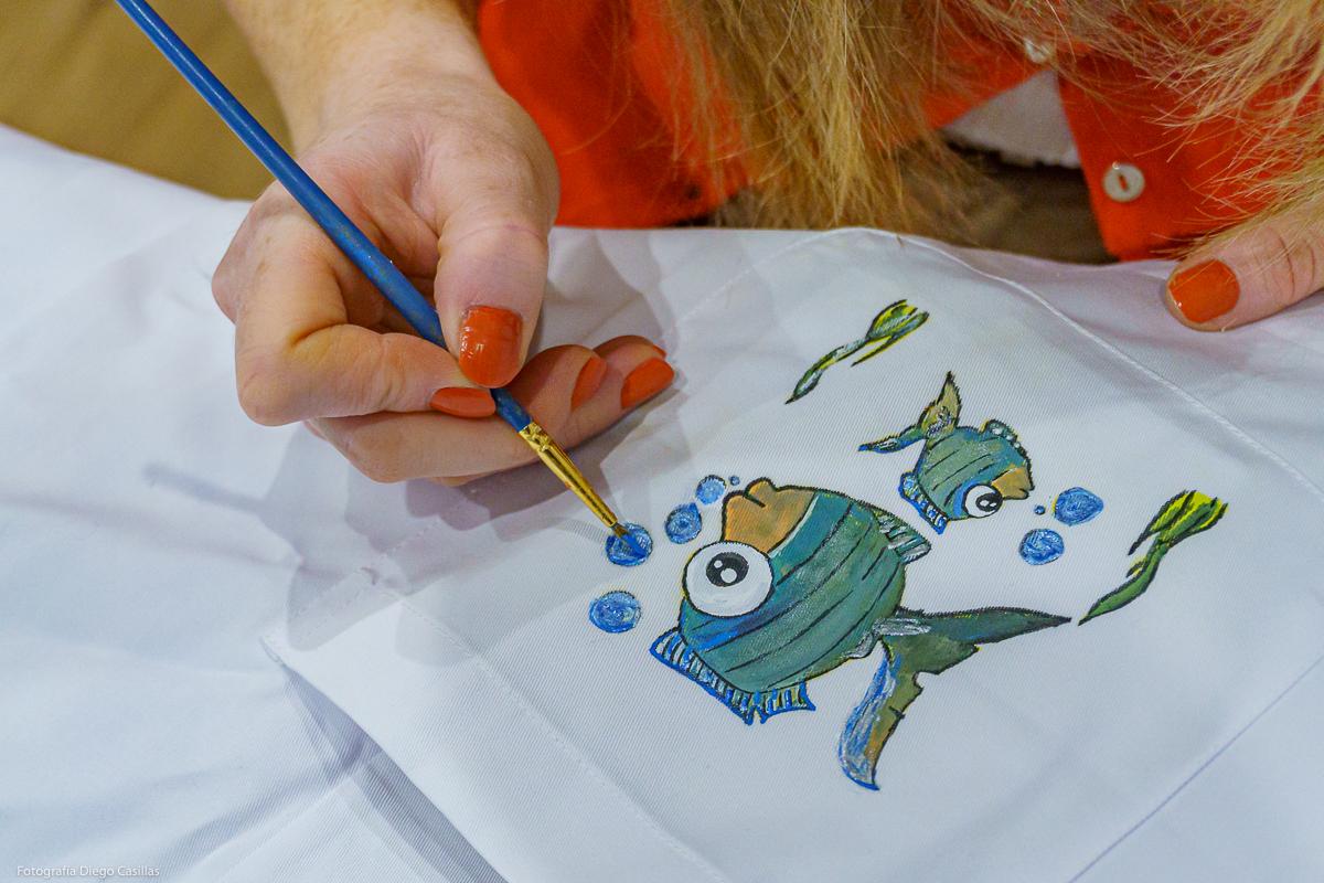 Detalle de uno de sus peces. Foto: Diego Casillas.